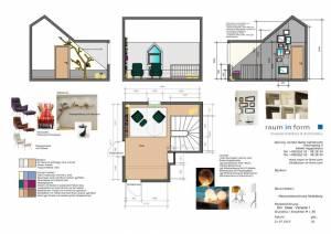 Konzeptplanung Raum In Form Innenarchitektur Architektur Kerstin Bertz Maisonette Heidelberg 4 CAD 22.07.2015