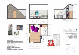 Konzeptplanung Raum In Form Innenarchitektur Architektur Kerstin Bertz Maisonette Heidelberg 5 CAD 22.07.2015