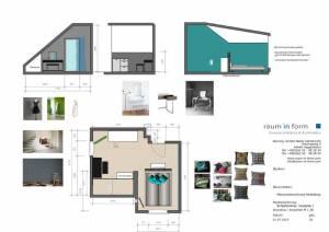 Konzeptplanung Raum In Form Innenarchitektur Architektur Kerstin Bertz Maisonette Heidelberg 6 CAD 22.07.2015