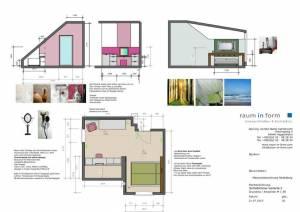 Konzeptplanung Raum In Form Innenarchitektur Architektur Kerstin Bertz Maisonette Heidelberg 7 CAD 22.07.2015