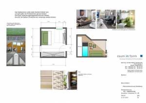 Konzeptplanung Raum In Form Innenarchitektur Architektur Kerstin Bertz Maisonette Heidelberg 8 CAD 22.07.2015