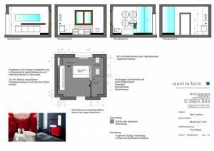 Konzeptplanung Raum In Form Innenarchitektur Architektur Kerstin Bertz  Villa Frankfurt 11 Bad EG 02.09.2015