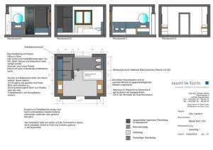 Konzeptplanung Raum In Form Innenarchitektur Architektur Kerstin Bertz  Villa Frankfurt 1 Bad EG 02.09.2015