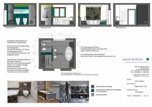 Konzeptplanung Raum In Form Innenarchitektur Architektur Kerstin Bertz  Villa Frankfurt 3 Bad EG 02.09.2015