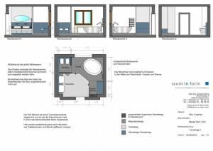 Konzeptplanung Raum In Form Innenarchitektur Architektur Kerstin Bertz  Villa Frankfurt 5 Bad EG 02.09.2015