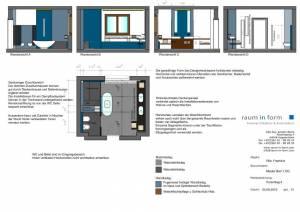 Konzeptplanung Raum In Form Innenarchitektur Architektur Kerstin Bertz  Villa Frankfurt 7 Bad EG 02.09.2015