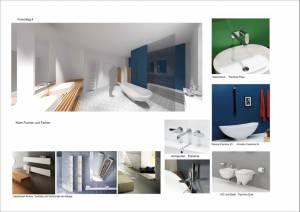 Konzeptplanung Raum In Form Innenarchitektur Architektur Kerstin Bertz  Villa Frankfurt 8 Bad EG 02.09.2015