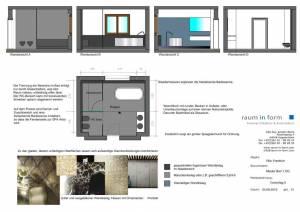 Konzeptplanung Raum In Form Innenarchitektur Architektur Kerstin Bertz  Villa Frankfurt 9 Bad EG 02.09.2015