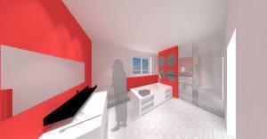 Raum-in-form Innenarchitektur Architektur Visualisierung Bad
