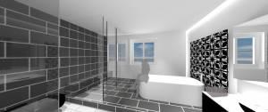 Raum-in-form Innenarchitektur Architektur Visualisierung Bad2